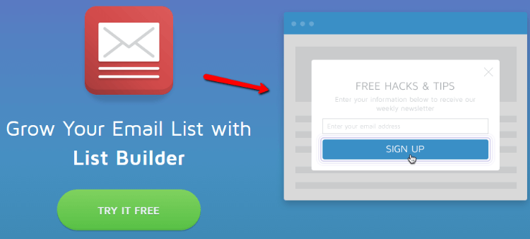SumoMe Review Email List Builder
