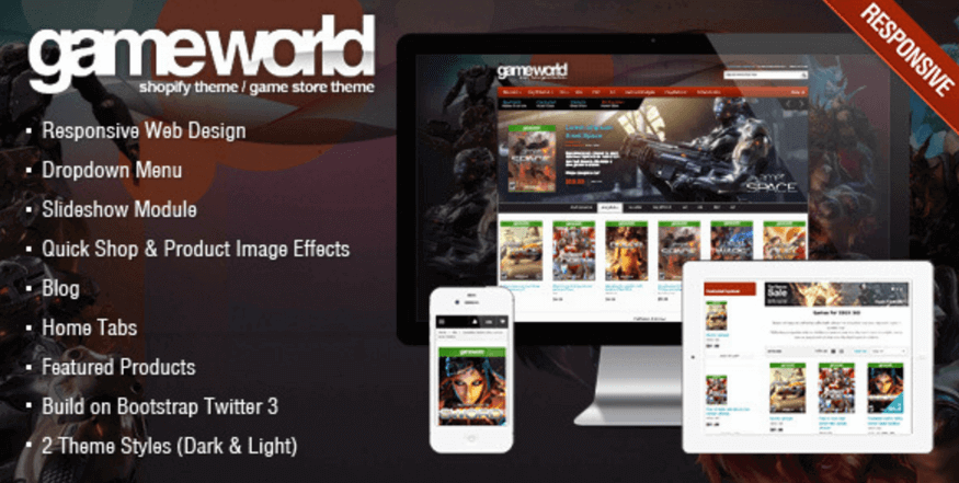 GameWorld Theme for Gaming Niche