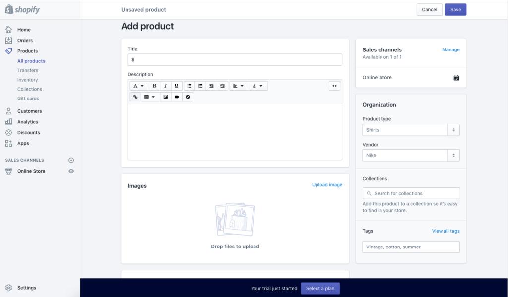 Using website builder interface