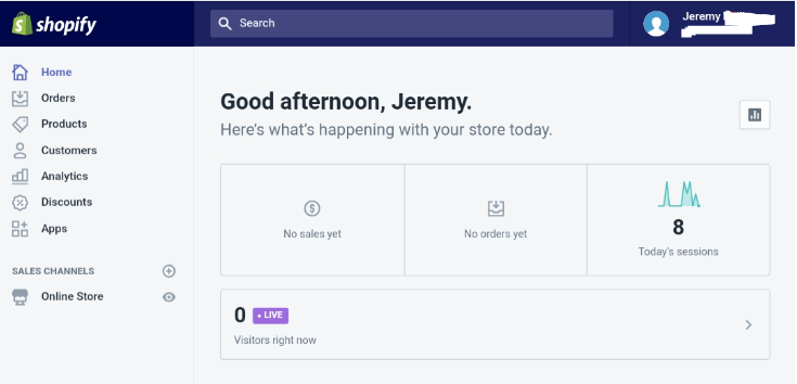 my shopify experience