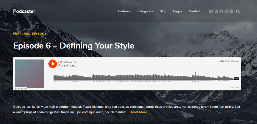 Podcaster WordPress Podcast Theme