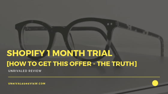 Shopify 1 Month Trial [How To Get This Offer - The TRUTH]