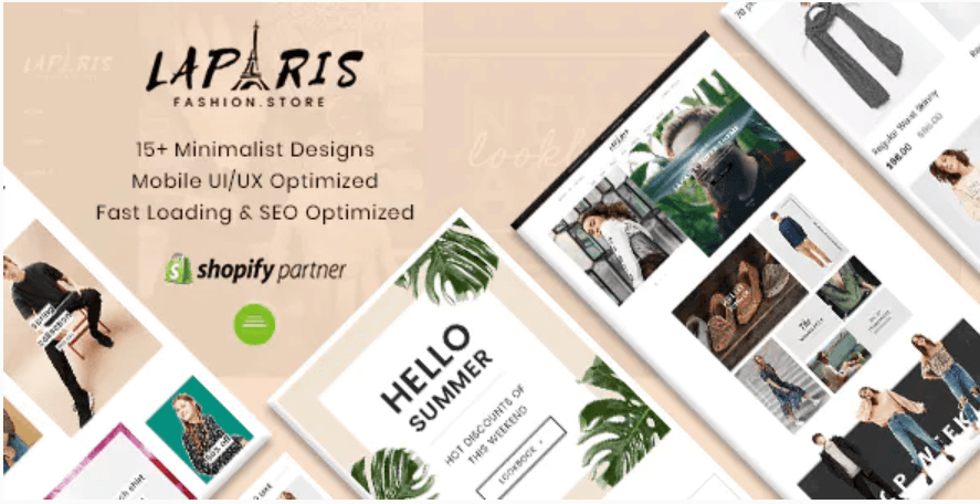 LaParis Shopify Theme SEO Friendly