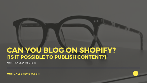 Can You Blog On Shopify? [Is It Possible To Publish Content?]