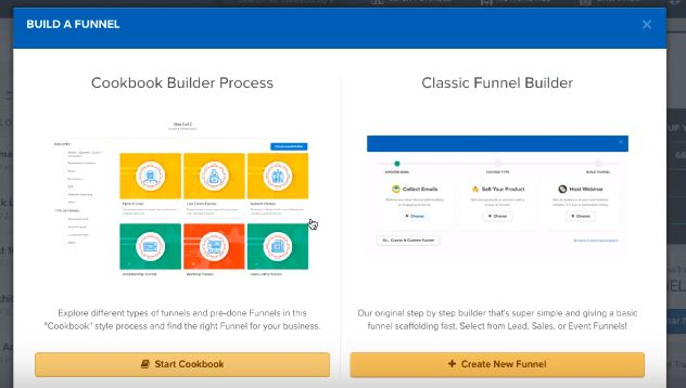 Clickfunnels Builder Interface