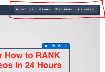 ClickFunnels Builder Sections Rows and Columns