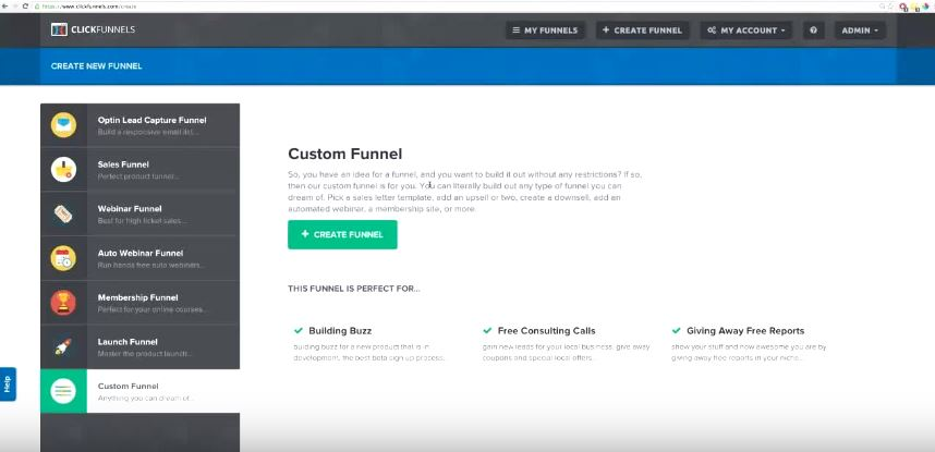 ClickFunnels User Interface