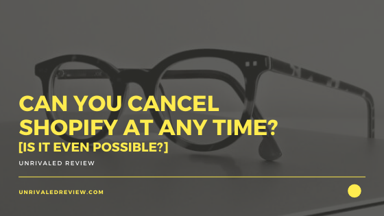Can You Cancel Shopify At Any Time? [Is It Even Possible?]