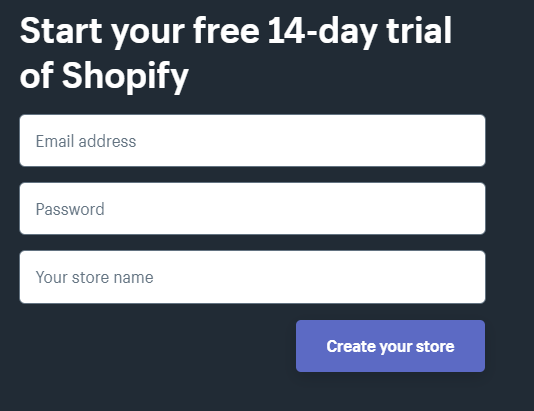 Shopify Free 14 Day Trial