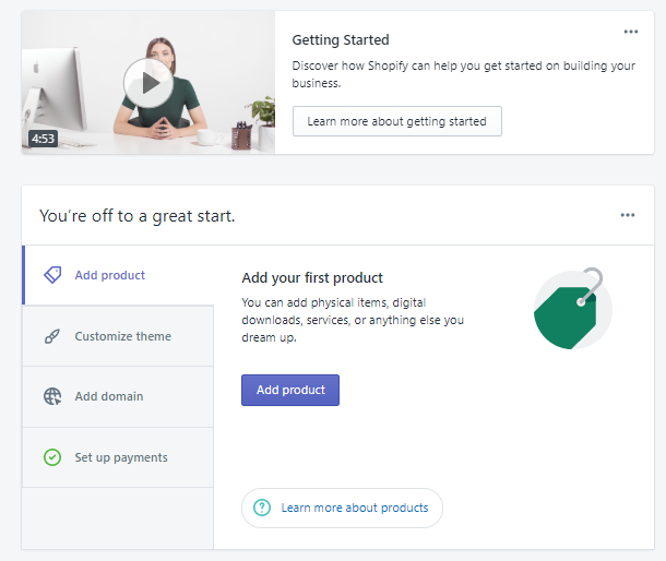 Shopify Getting Started